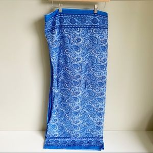 Scarf Sarong Blue Paisley Floral